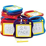 Boley 24 Piece Doodle Board Set - Magnetic Drawing Pad Set with Magnetic Drawing Pen - Educational Magic Doodle Erasable Writing Pad - Perfect for Classroom Supplies, Party Favors, or Party Supplies!