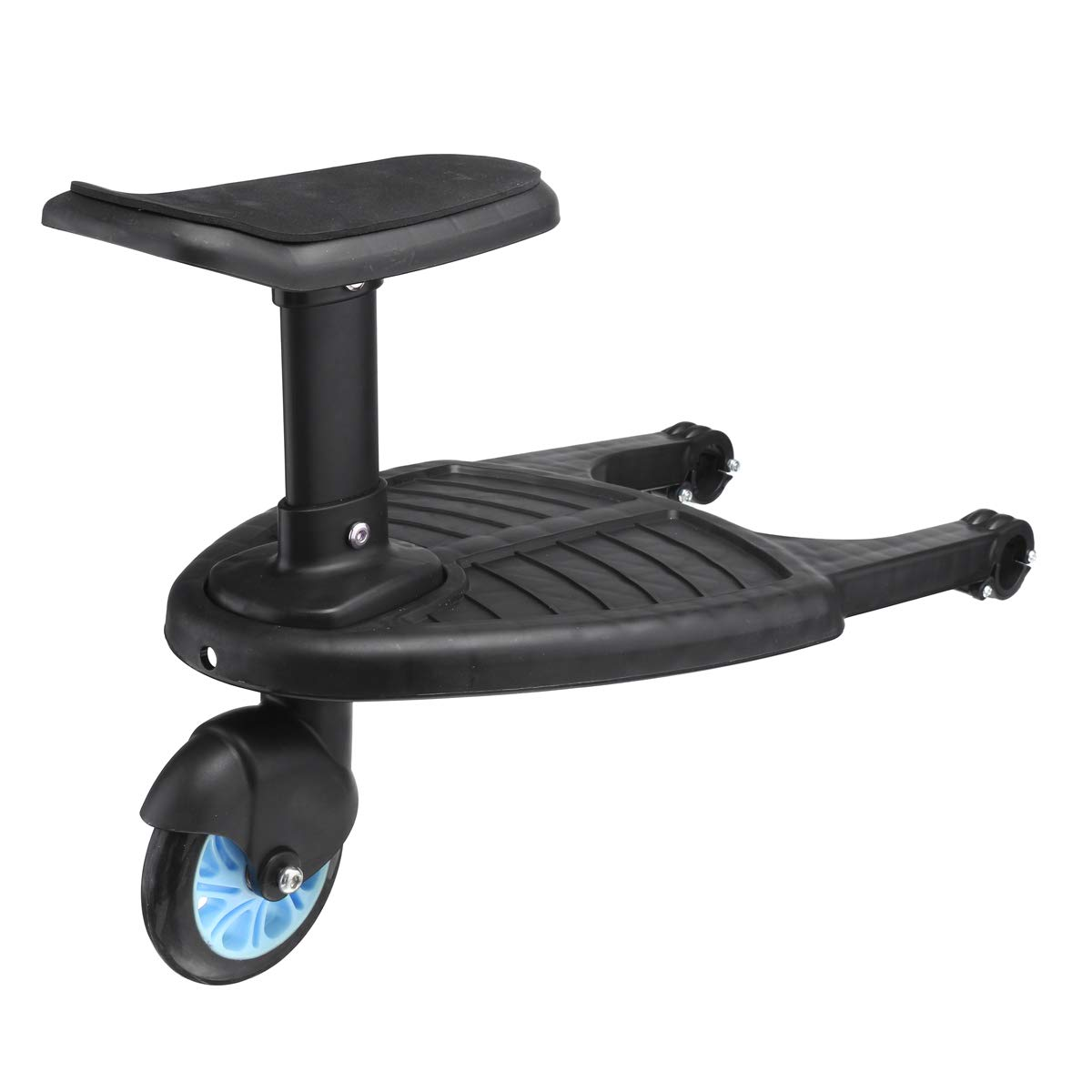 ZUINIUBI Kids Hitch Ride-On Stroller Step Board-Comfort Easy Adjustable Wheeled Pushchair Auxiliary Pedal Baby Travel Trailer for Stroller, Buggy, Jogger up Load to 55LB