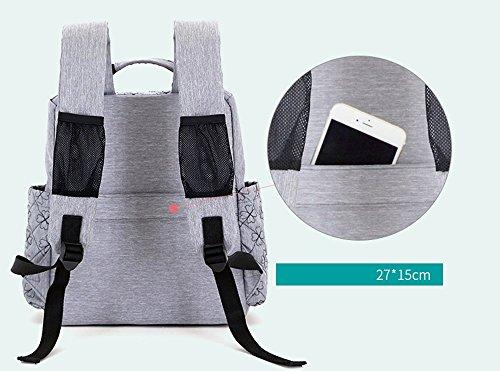 Bolso de la momia, bolso de hombro, de gran capacidad multi-funcional fuera del paquete, bolso de la madre de la manera, bolso del bebé de la madre, ser producido la morral ( Color : Purple ) Azul