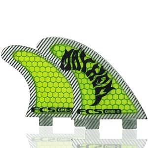 FCS GMB-5 Mayhem - Quillas de tabla de surf (2 unidades), color verde