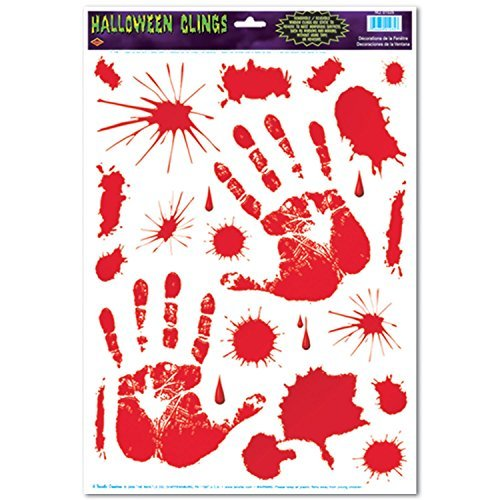 Halloween Decorations - Bloody Glass - Window Clings Pkg/3 ()