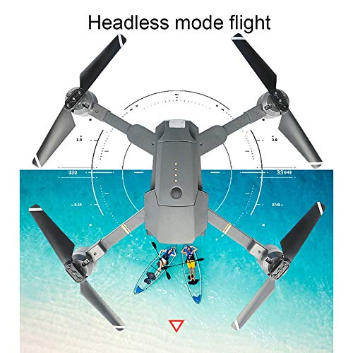 Yaoaoden Attop XT-1 Drohne 2,4 GHz 6-Achsen-Gyro Faltbare Drohne XT-1 Wi-Fi 2MP HD-Kamera FPV RC Quadcopter mit Headless-Modus Höhenstand 3D-Flips 6398ba