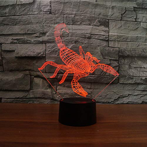 - Interesting 3D Scorpion Design Night Lamp LED Lighting with Multi-Colors Desk Lamp as Children Gifts