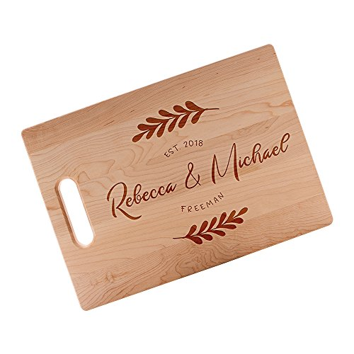 (Master Chefs Series Personalized Cutting Boards for Men & Women Who Loves Kitchen | Personal Customized Cutting Board | Large Commercial Wood Maple Cutting Board Customizable Name/Text & Date #N40)