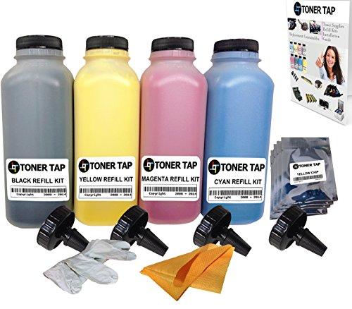 Magicolor 5440dl Color - Toner Tap Refill Kit for Konica Minolta QMS MagiColor 5430DL 5440DL 5450 w/ Chips