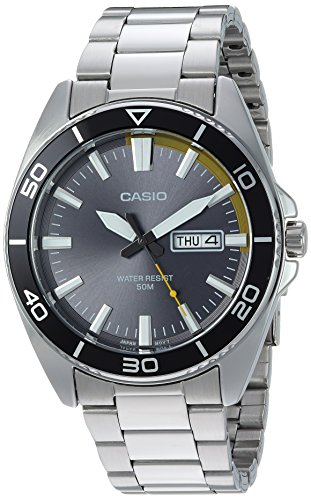 Casio Men's Sports Quartz Watch with Stainless-Steel Strap, Silver, 21.9 (Model: MTD-120D-8AVCF)