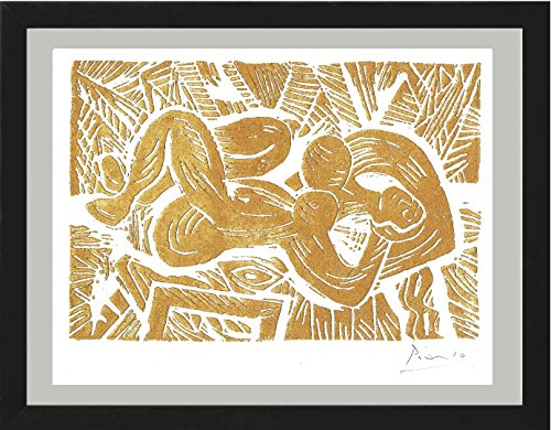 Pablo Picasso Original Hand-Signed Limited Edition Linocut Print with COA,