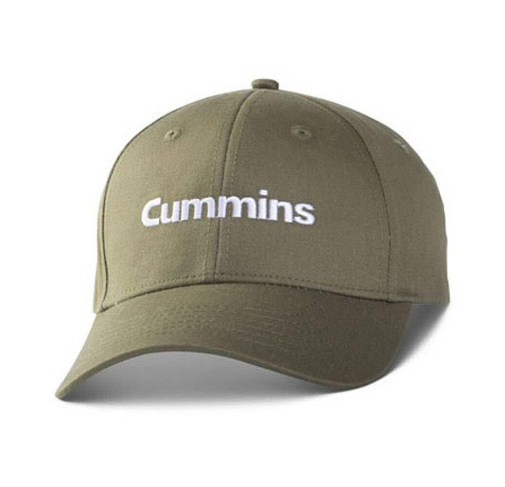 BD Cummins Diesel Engines Olive Green /& White Embroidered Twill Work Cap//Hat