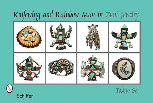 Knifewing & Rainbow Man in Zuni Jewelry ()