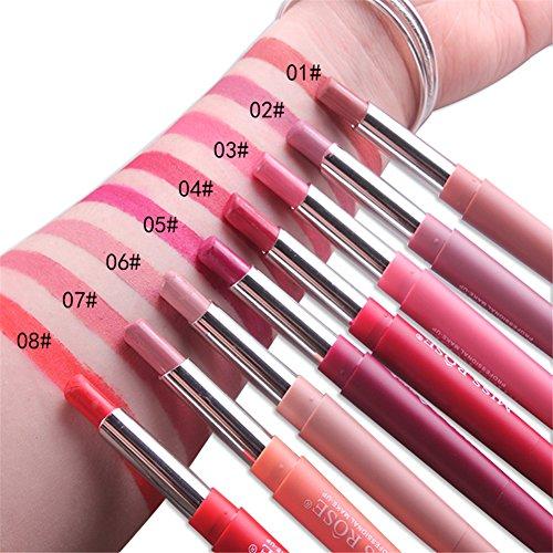 Amazoncom Miss Rose 2 In 1 Lipstick Pen Lip Liner Double Head 8