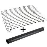 Spares2go Universal Stainless Steel Folding Base Shelf & Oven Liner For Oven Cooker