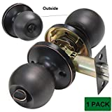 Probrico DL607ORB Privacy Dook Lock Bedroom or Bathroom Door Knobs and Handles Oil Rubbed Bronze