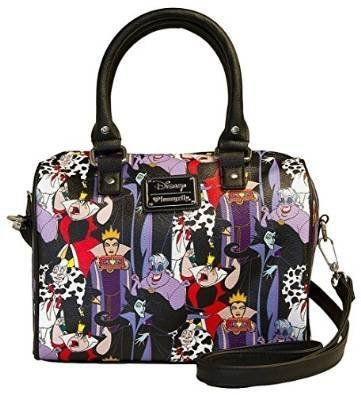 Loungefly Disney Villains Print Duffle Bag]()