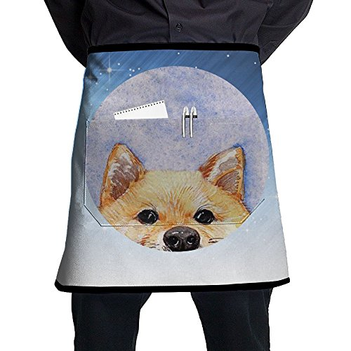 XiHuan Grill Aprons Kitchen Chef Bib Bad Dog Professional For BBQ Baking Cooking For Men Women Pockets