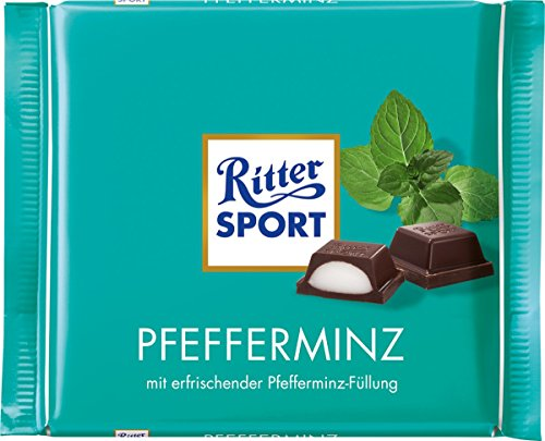 Ritter Sport Chocolate Bar Peppermint, 3.5 oz by Ritter Sport