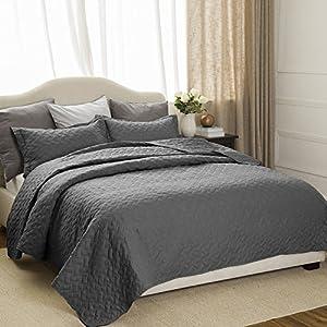 Quilt Set Solid Grey Full/Queen(86