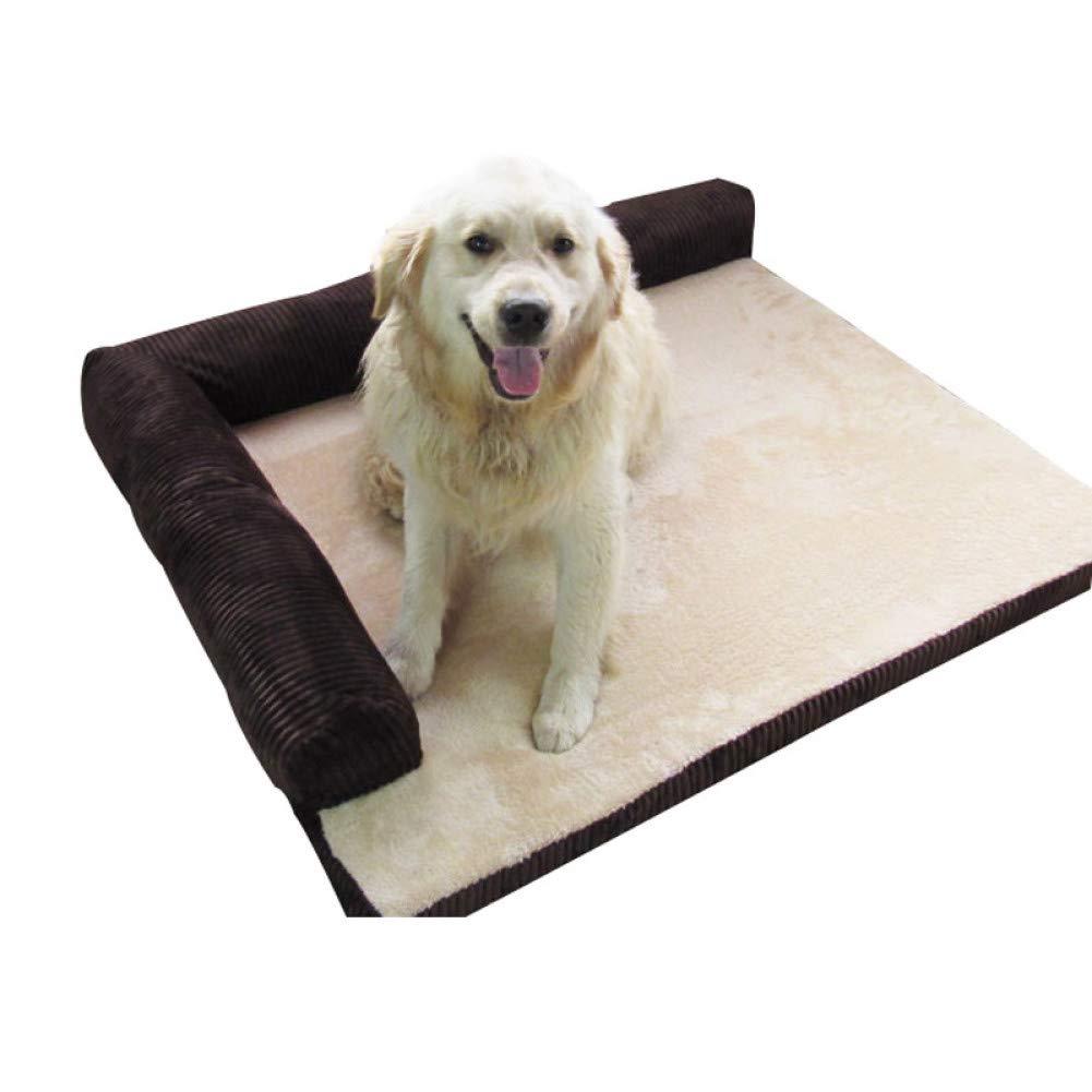 CZHCFF Pet dog sofa bed winter fleece cat sleeping bed detachable wash dog large dog