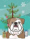 Caroline's Treasures BB1591GF Christmas Tree and English Bulldog Garden Flag, Small, Multicolor Review