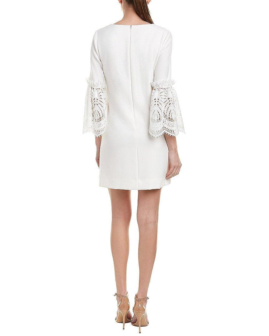 046b2d00 Tahari ASL Womens Lace Bell Sleeve Shift Dress - White -: Amazon.co.uk:  Clothing