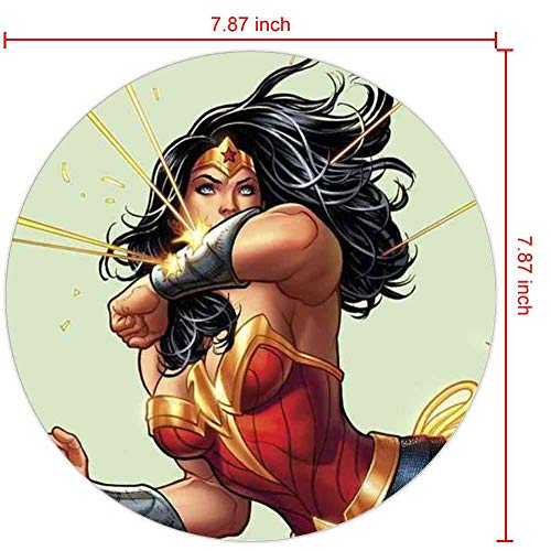 Gaming Mouse Pad Wonder Woman Frank Cho Cover Fashion Cute Stitching Edge Rectangular Round Mouse Pad Non Slip Rubber Home Office Lovely 200mm3mm