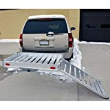 Mobility Carrier with Foldable Loading Ramp Aluminium Erickson Hitch Hauler For Scooters, Wheelchairs, Containers, ETC. Load Capacity: 181.4 kg (400 lb.) Anti-Skid, Anti-Wobble