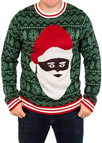Black Santa Clause Holiday Sweater