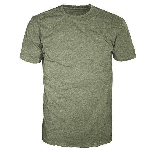 (Men's Signature Collection - Casual Premium Soft Cotton Short Sleeve T-Shirts Classic Crew Neck Style by Four Seasons Design (2XL, Military Heather))