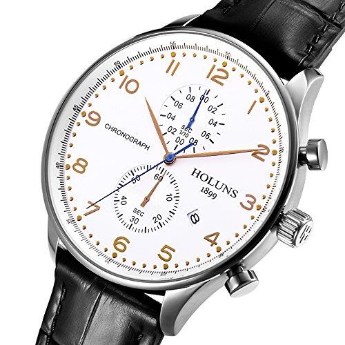 Gosasa 48mm Men Outdoor Chronograph Quartz Watch Men's Large Dial Wristwatches Sports Watches