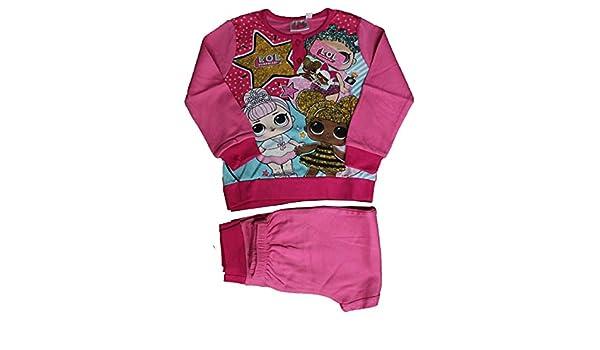 Ruso Tejidos Pijama niña niña LOL chándal Rosa Manga Larga cálido ...