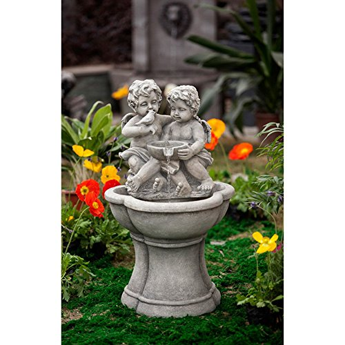 Resin Cherub - Jeco Cherub Water Fountain with LED Light