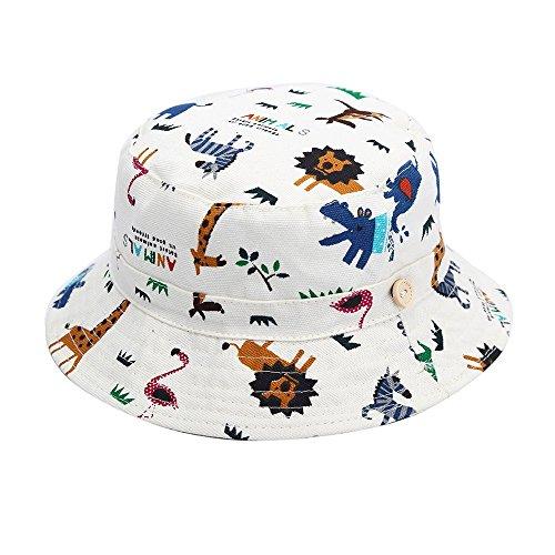 Hisharry Baby Toddler Kids Boy Girl Bucket Reversible Sun Protection Animal Hat 21.2