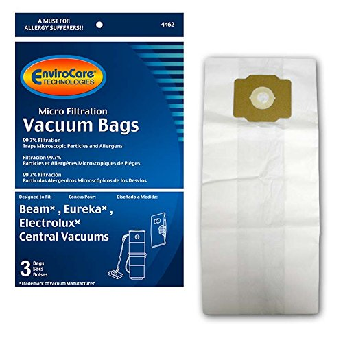 EnviroCare Replacement Vacuum Bags for Eureka, Beam and Electrolux Central Vacs 3 bags - White Westinghouse Vacuum Replacement Bag