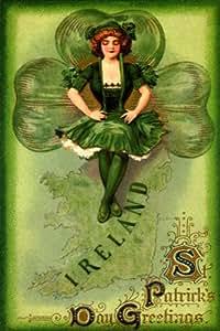 Amazon.com: GIRL DANCE IRELAND MAP IRISH SAINT ST. PATRICK