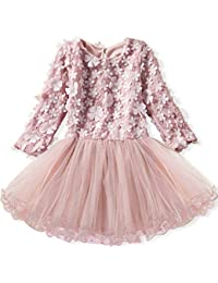 Toddler Girls Winter Clothes Long Sleeve Girls Dresses Kids 2-8 Years