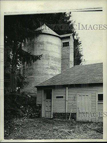 1979 Press Photo Shed & Silo at Yaddo Gardens, Saratoga Springs, New York - Yaddo Gardens