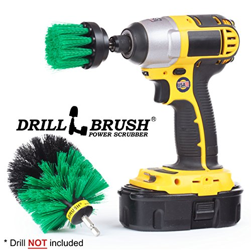 Power Bath Brush Electric Tile and Grout Brush Small Shower Track Brush by Drillbrush