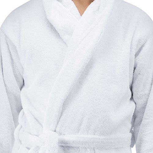 Comfy Robes Personalized Men's Deluxe 20 Oz. Turkish Cotton Hooded Bathrobe, XXL White by Comfy Robes (Image #1)