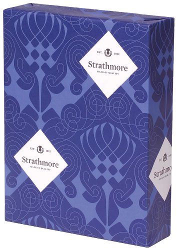 Strathmore Writing 25% Cotton Stationery Paper Wove Finish 90-bright Bright White Shade Watermarked, 24 lb  8.5x11 Inch 500 Sheets/Ream - Sold as 1 Ream (300220)