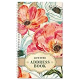 Floral Daydream Lifetime Address Book-72 Page, Soft Cover Telephone Number and Address Keeper
