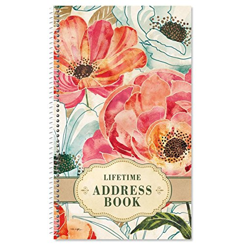Floral Daydream Lifetime Address Book-72 Page, Soft Cover Telephone Number and Address Keeper by Current