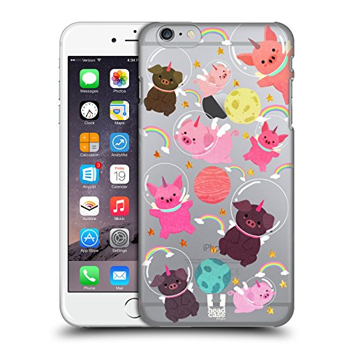 - Head Case Designs Pig Space Unicorns Hard Back Case for Apple iPhone 6 Plus / 6s Plus