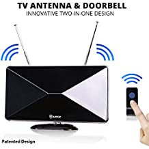 Indoor TV Antenna,ANTOP Amplified HDTV Antenna with Signal Booster for Clear 1080P HD Reception-50 Mile Long Range OTA Antenna