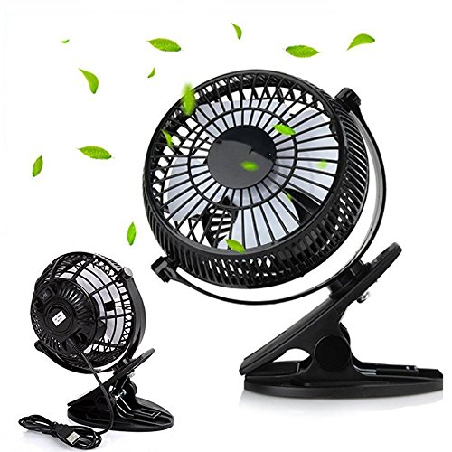 USB Fan, Mini Clip Desk Cooling Fan 360° Rotation Stong Wind Ultra-quiet Air Circulator Fan for Office Room Outdoor Household Traveling