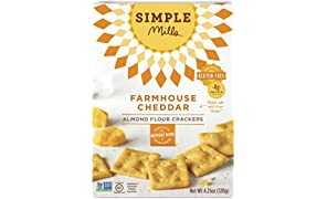 Simple Mills Almond Flour Crackers, Farmhouse Cheddar, 4.25 oz (PACKAGING MAY VARY)
