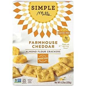 Simple Mills Naturally Gluten-Free Almond Flour Crackers, Farmhouse Cheddar, 4.25 oz