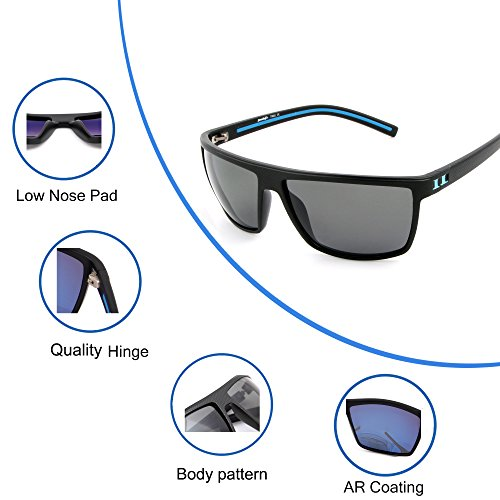 a7cc598a387 Tacloft Wayfarer Sunglasses 62mm Polarized Sunglasses TR008