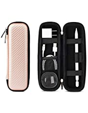 Apple Pencil Case Holder Accessories(1 Pocket for Pencil Tips) Elastic Strap Sleeve Pouch Protective Carrying Case for USB Cable Earphone, Samsung Stylus iPad Pro Pen/Pencil Holder (Rose Gold)