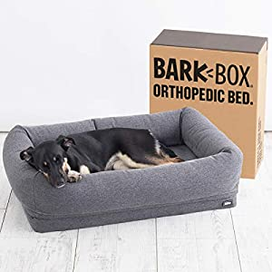 Barkbox 2-in-1 Memory Foam Dog Bed, High Density 3'' Orthopedic Anti-Anxiety and Joint Relief Crate Lounger or Donut…