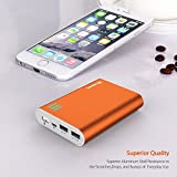 Jackery Giant+ Premium 12000mAh Dual USB Portable Battery Charger & External Battery Pack, Power Bank (Total 3.1A Output) for iPhone (e.g. iPhone 8 / 7 / 6), Samsung, and Other Smart Devices (Orange)