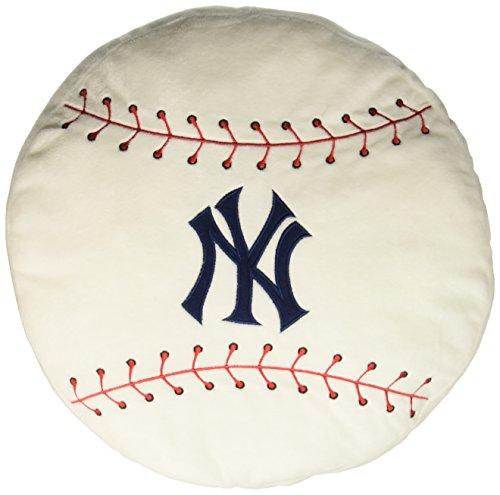 "MLB New York Yankees Baseball Shaped 3D Sports Pillow, 15"" x 15"" x 2"""